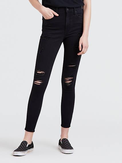 Mile High Super Skinny Ankle Women's Jeans Black | Levi's