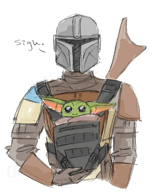 Roboemma Lovely Image Of The Mandalorian With Baby Yoda Themandalorian Star Wars Drawings Star Wars Fandom Star Wars Humor