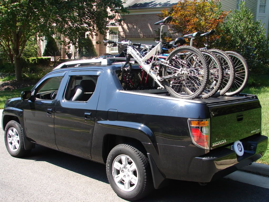 Custom Built Tonneau Bike Rack   Honda Ridgeline Owners Club Forums