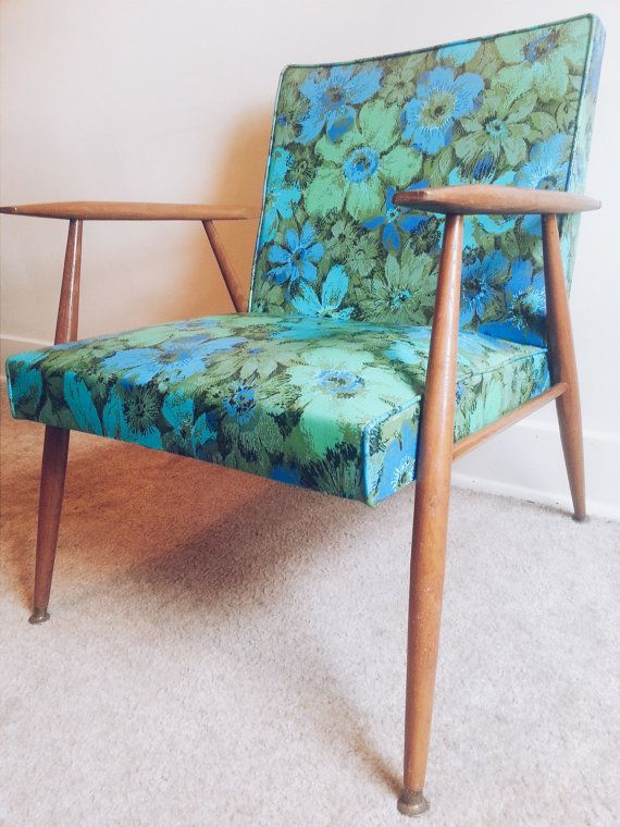 Vintage Mid Century Modern Danish Fl Lounge Chair By