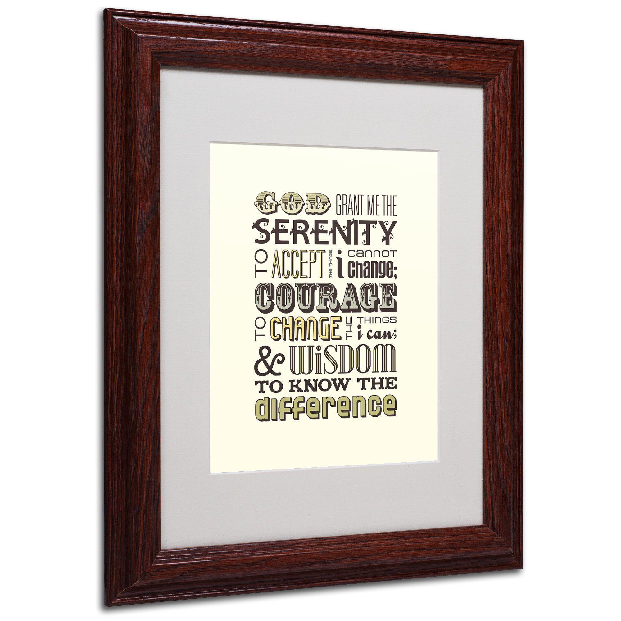 Megan Romo Serenity Prayer I Matte, Wood Framed Wall Art