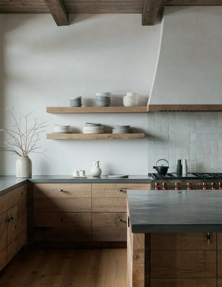 30+ Awesome Modern Scandinavian Kitchen Design Ide #bedroomscandinavian