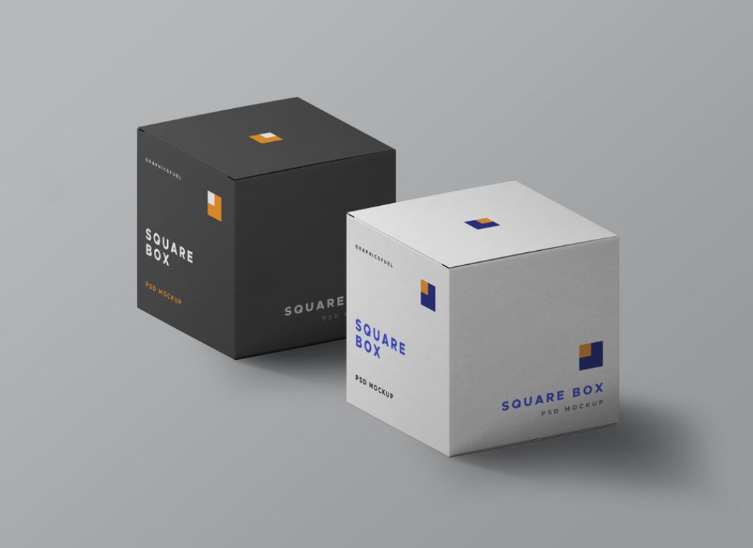 Download Square Boxes Mockup Set Free Download In 2020