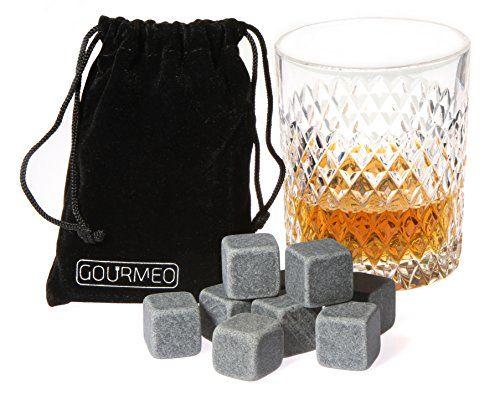 GOURMEO Premium Whisky Steine (9 Stück) wiederverwendbare Eiswürfel, Whiskysteine, Whisky Stones, Kühlsteine aus natürlichen Speckstein I 2 Jahren Zufriedenheitsgarantie - http://geschirrkaufen.online/gourmeo/gourmeo-premium-whisky-steine-9-stueck-whisky-aus