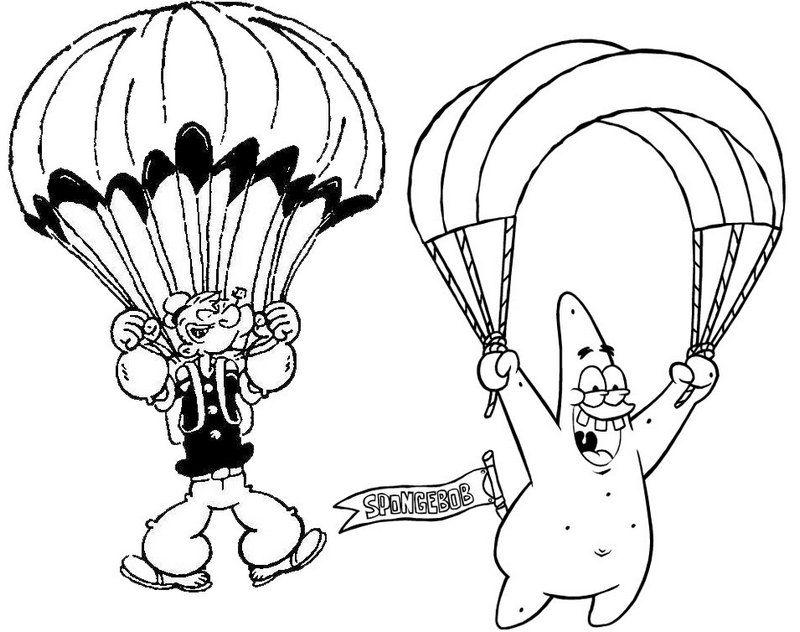 Pin Oleh Illustration Designer Di Parachute Coloring Pages