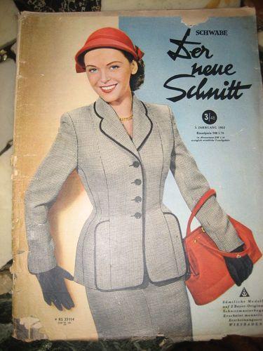Der Neue Schnitt Heft 3 1952 vintage Schnittmuster Moden Zeitung ...