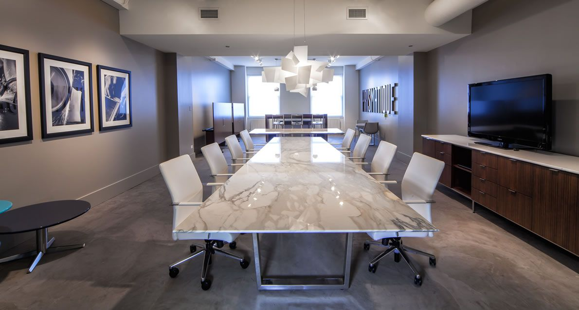 Conference Meeting Training Occasional Tables Prismatique A - Stone conference table