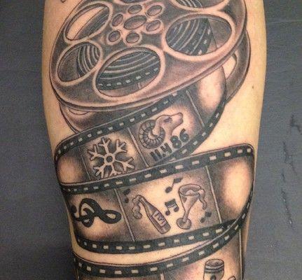 cinema video camera tattoo design … | tattoo ideas | tattoos, camera