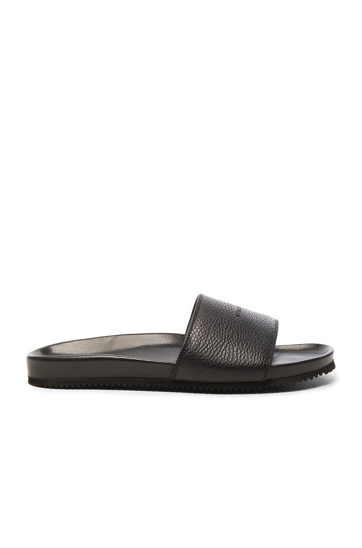 BUSCEMI Leather Classic Slide Sandals in . G4C78iu