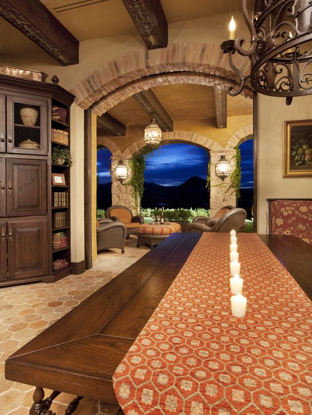look at the view beyond Dining Room Dazzle Pinterest Tuscan
