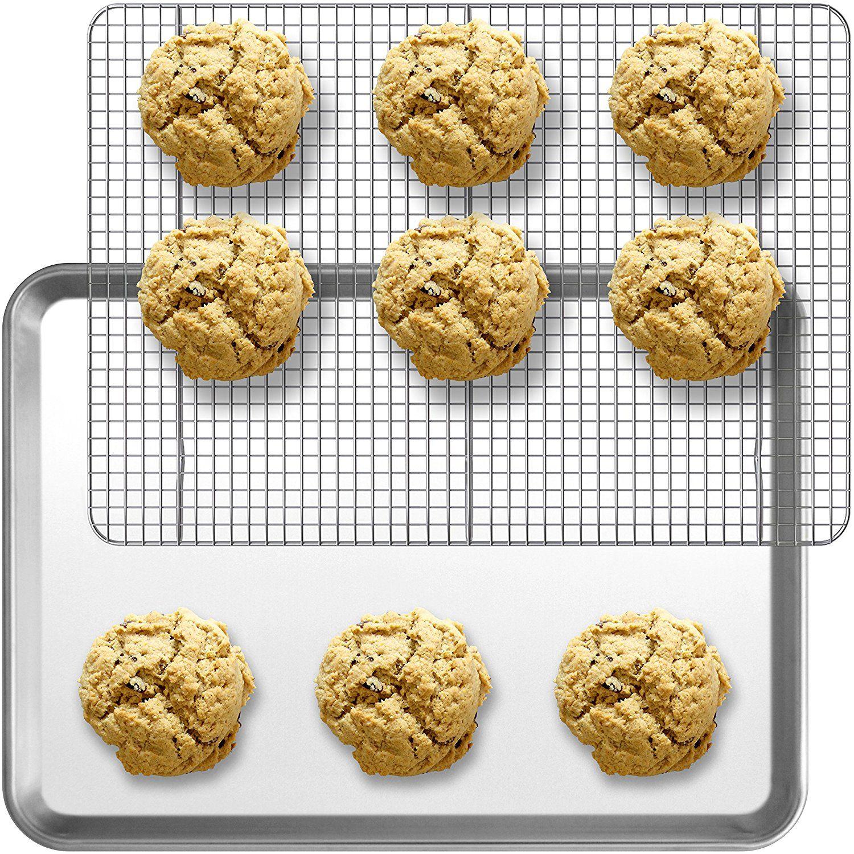 Combo aluminum baking sheet pan halfsize 13 x 18 and
