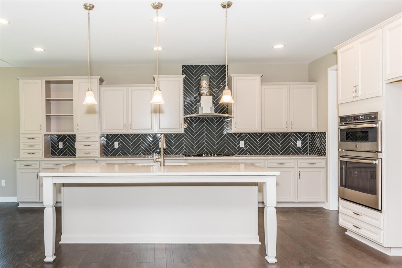 Lillian glacier gray cabinets gourmet kitchen kitchen cabinets