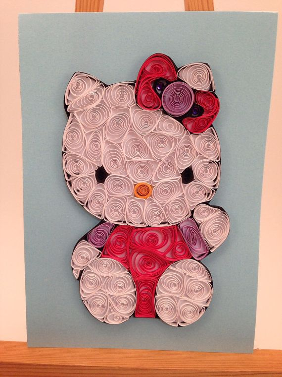 Quilled art, Hello Kitty, Framed 5x7 | Pinterest | Filigrana
