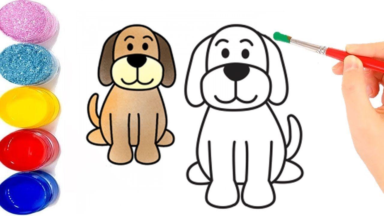 تعلم كيفية رسم كلب كرتون للاطفال تعليم الرسم للاطفال Drawings Draw