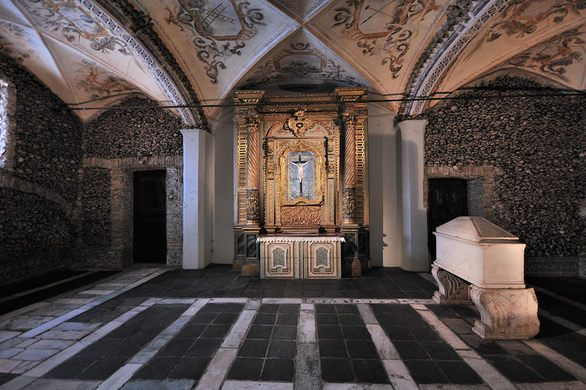 Portugal S Chapel Of Bones Chapel Places In Portugal Portugal