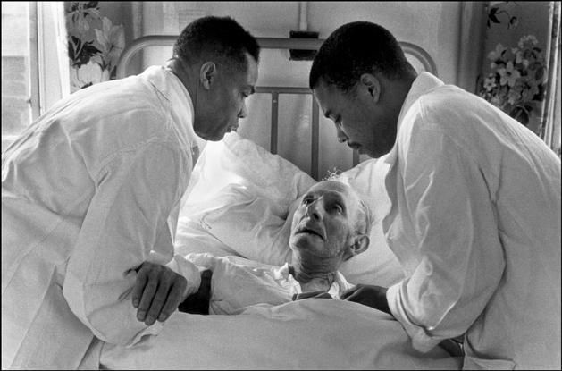1969 Midland.  A white patient in the hospital woke up to two black nurses taking care of him.