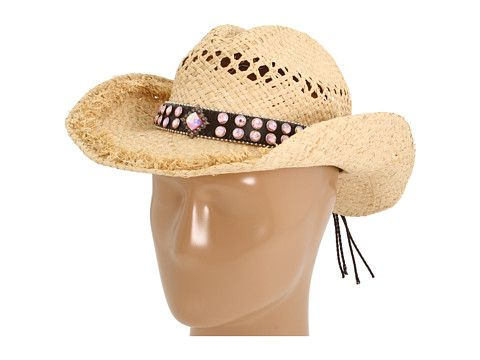 Crystal band hat from M Western. #accessorize #country #zappos