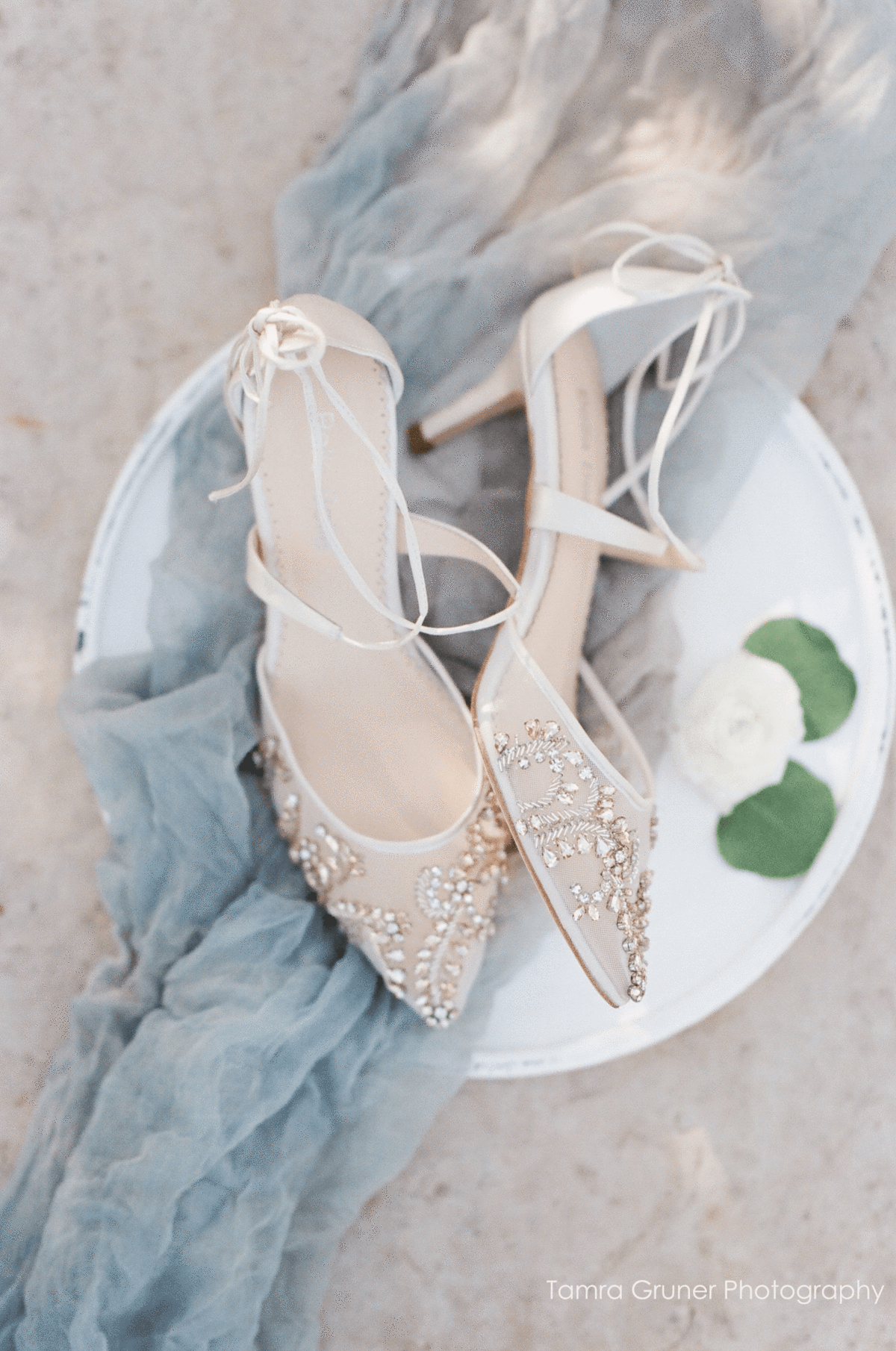 21b8d59d0a21 Crystal embellished ivory wedding shoes low heel kitten heels with milky  teardrop stones