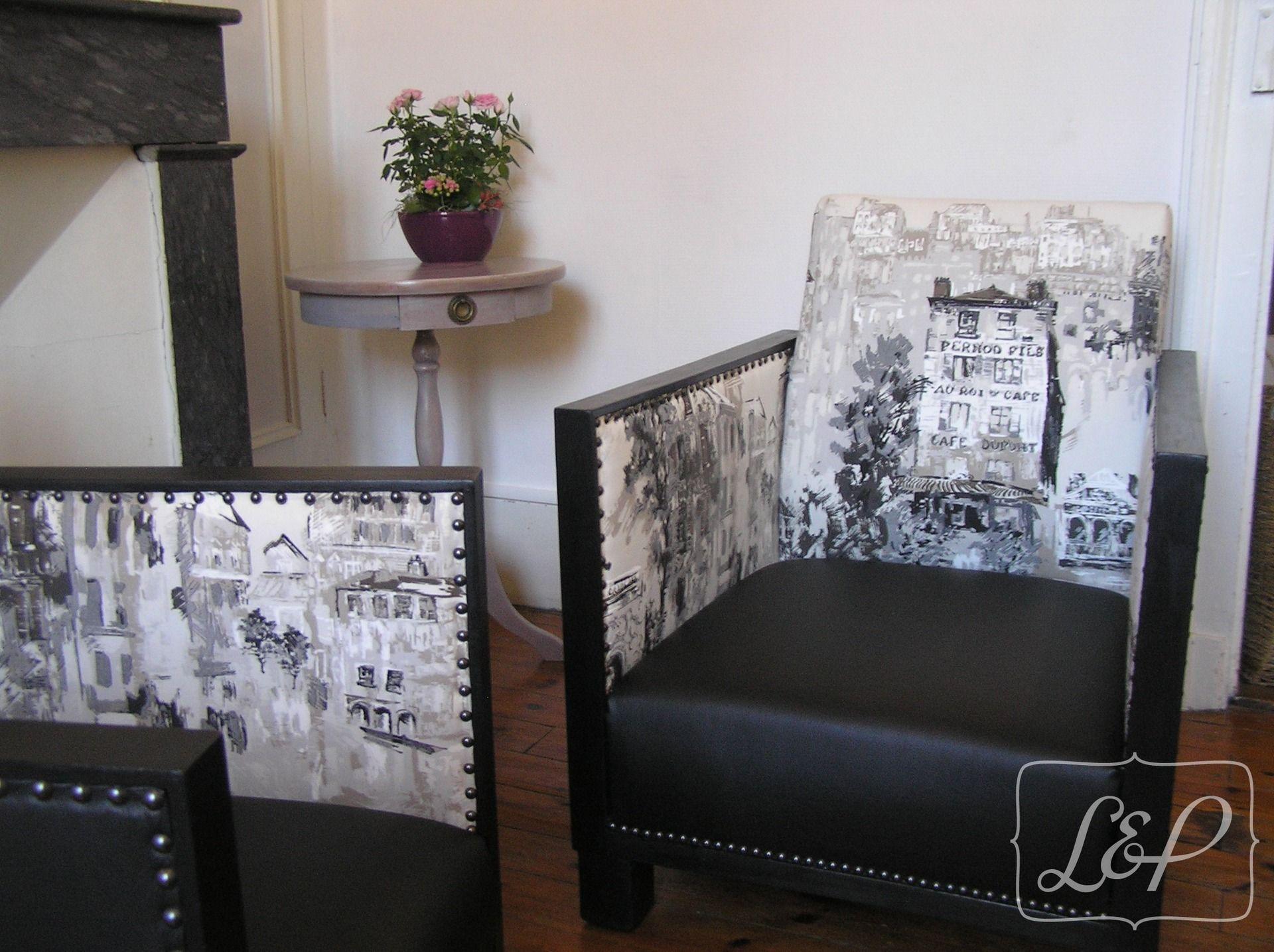 fauteuil studio art déco des années 30 restauré, vieux paris
