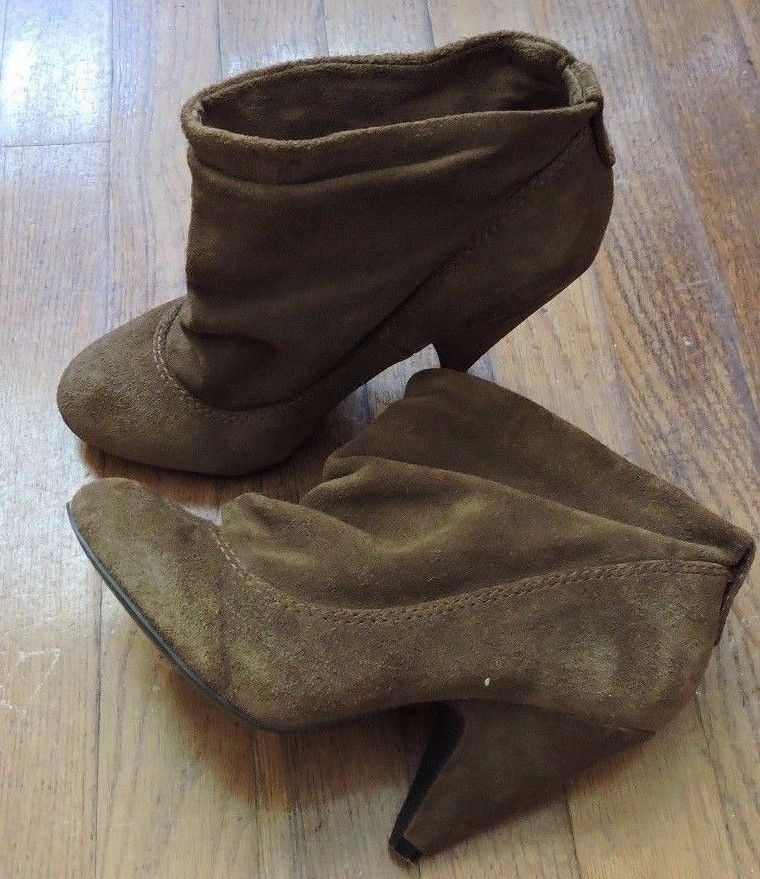 7878b1289fd Steve Madden P-OLLIE Brown Suede Leather Ankle Boot Size 7M  SteveMadden   AnkleBoots
