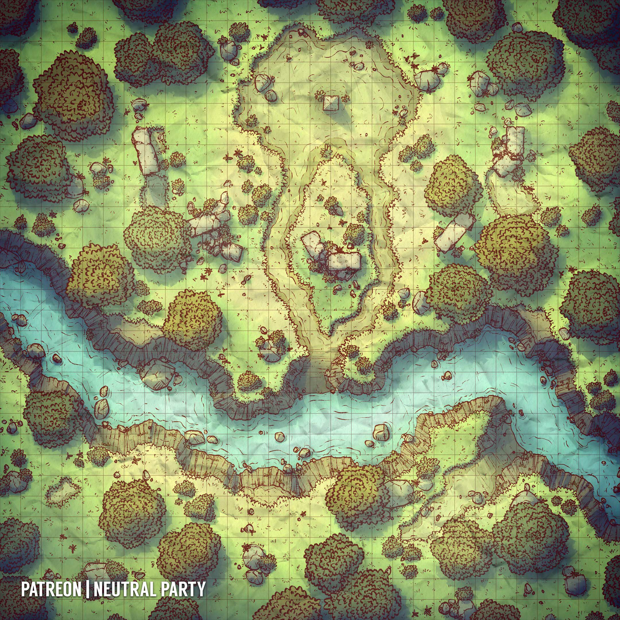 Campsite at the River | Fantasy map, Dungeon maps, Map on