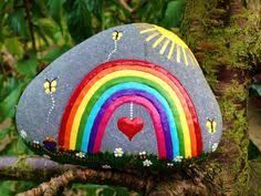 Image result for rock paint, be a rainbow