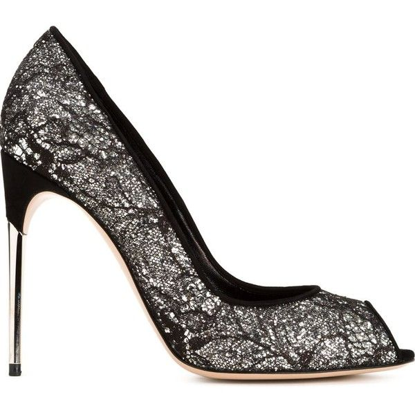 Sebastian Milano glitter lace pumps ($710) ❤ liked on Polyvore featuring shoes, pumps, black, glitter pumps, black pumps, black shoes, lacy shoes and lace shoes