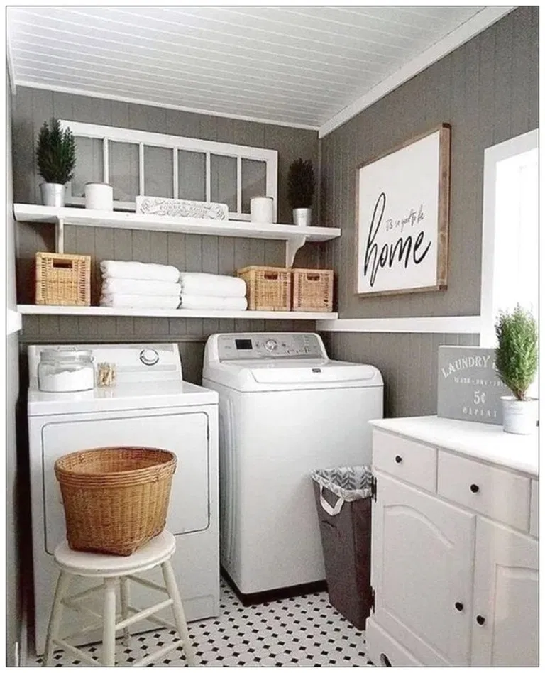 35 great ideas small laundry room space saving diy on creative space saving cabinets and storage ideas id=74299