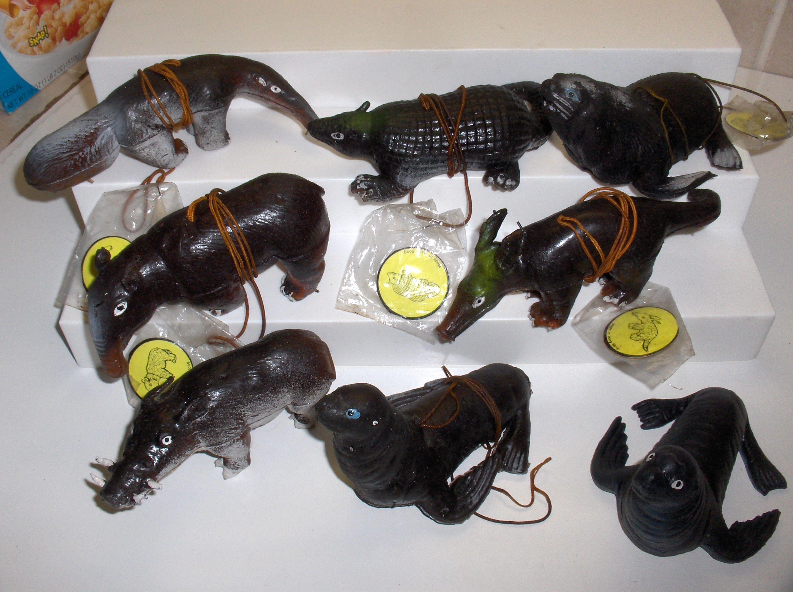 1960 toys images  Oily Animals  Rubber Jiggler Toys  Pinterest
