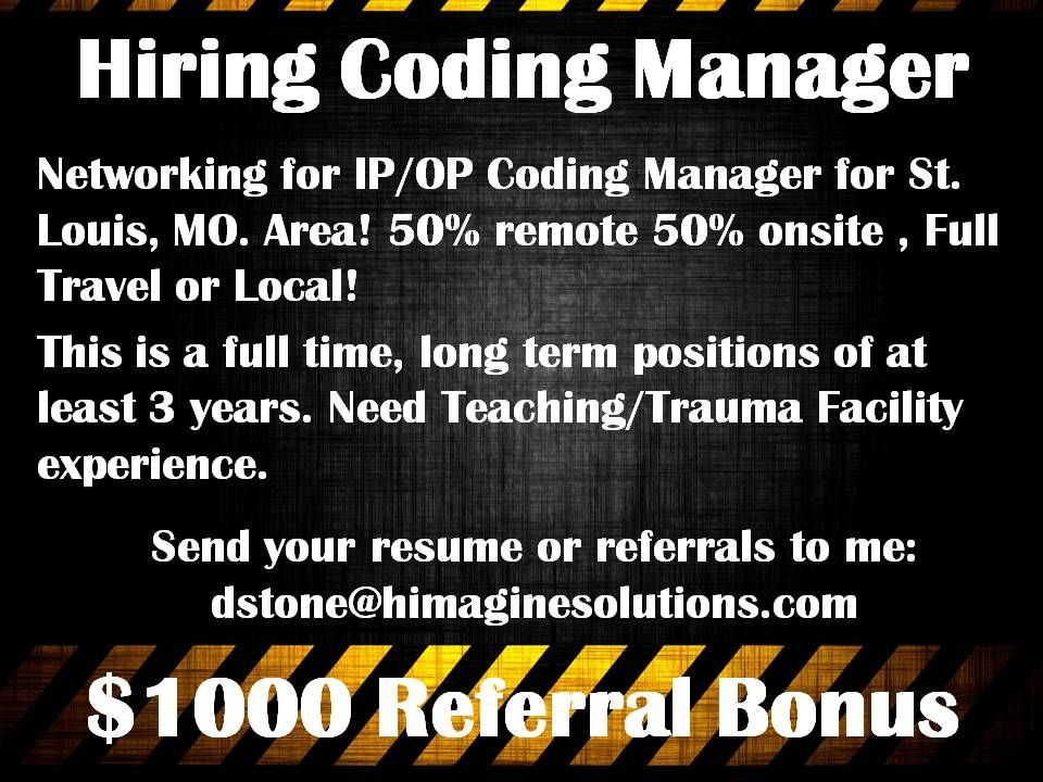 Hiring Coding Manager Medical coder, Coding, Teaching