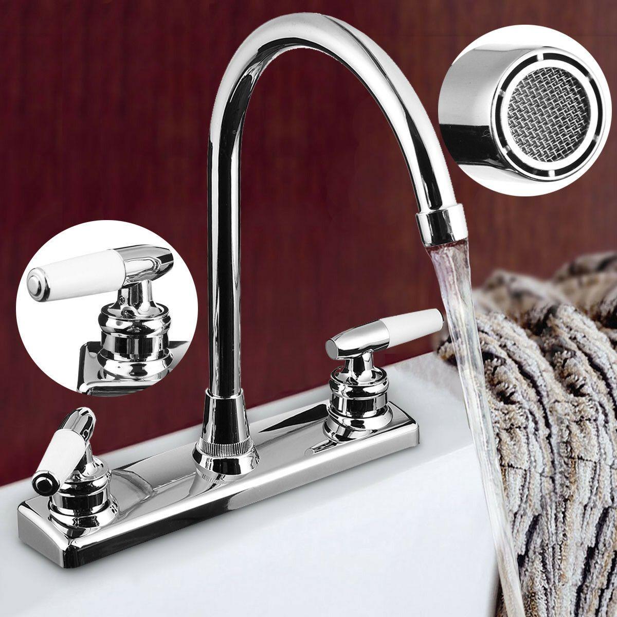 Rv Mobile Home Faucet Dual Handles Hot Cold Basin Sink Kitchen Mixer Tap Us Kitchen Faucets Ideas Of Kitchen Fauce Sink Sink Mixer Taps Kitchen Faucet