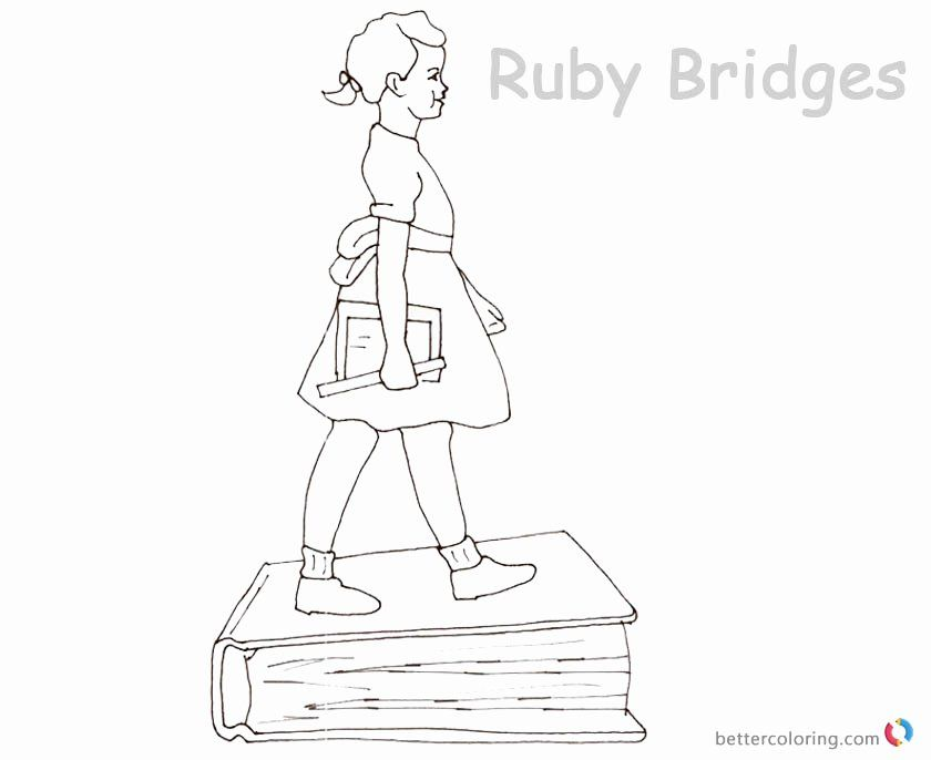 32 Ruby Bridges Coloring Page Coloring Pages Ruby Bridges