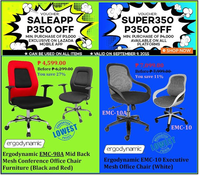 Office Furniture Lazada S Super September Promo Save P350 Off On Erynamic Mesh Chairs Use Voucher Code Exlusive