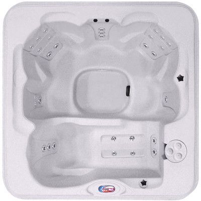 American Spas 6-Person 30-Jet Lounger Easy Plug and Play Spa with Two Port LED Waterfall
