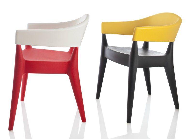 Sedia in polietilene jo by alma design design mario mazzer