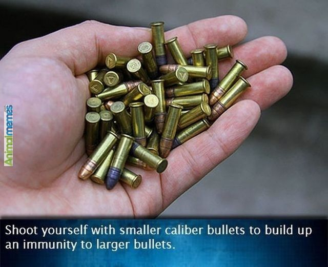 Funny Memes About Life Hacks : Funny memes shoot yourself with smaller caliber bullets funny