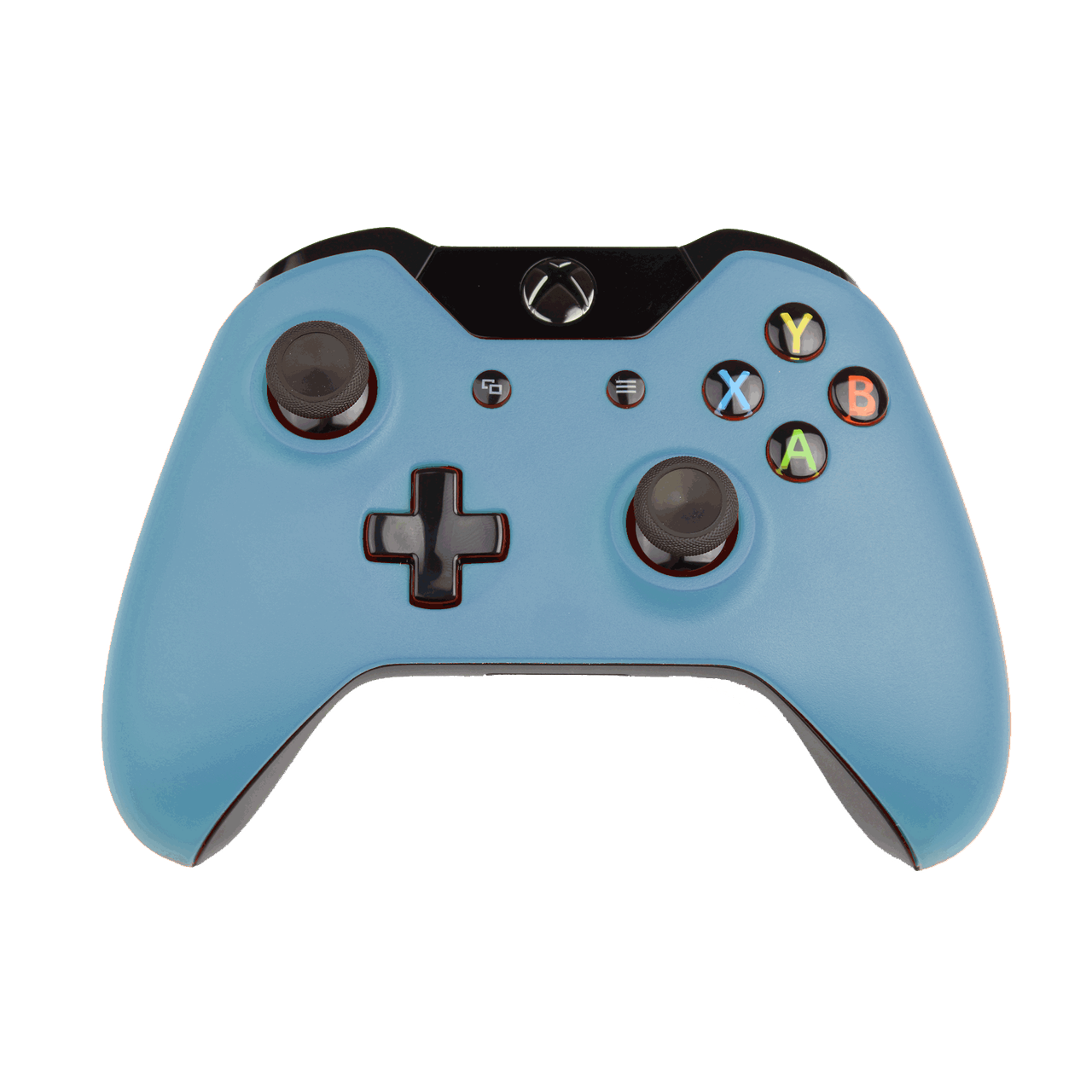 Custom Xbox One Controller Wireless Glossy Blue Gray Custom Xbox Xbox Controller Custom Xbox One Controller