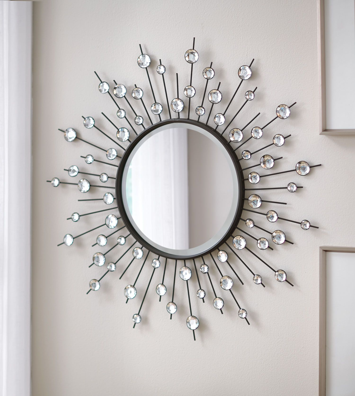 Diamond Mirror Sunburst Mirror Beveled Mirror Accent Mirror Wall Mirror Sunburst Mirror Silver Sunburst Mirror Diamond Mirror
