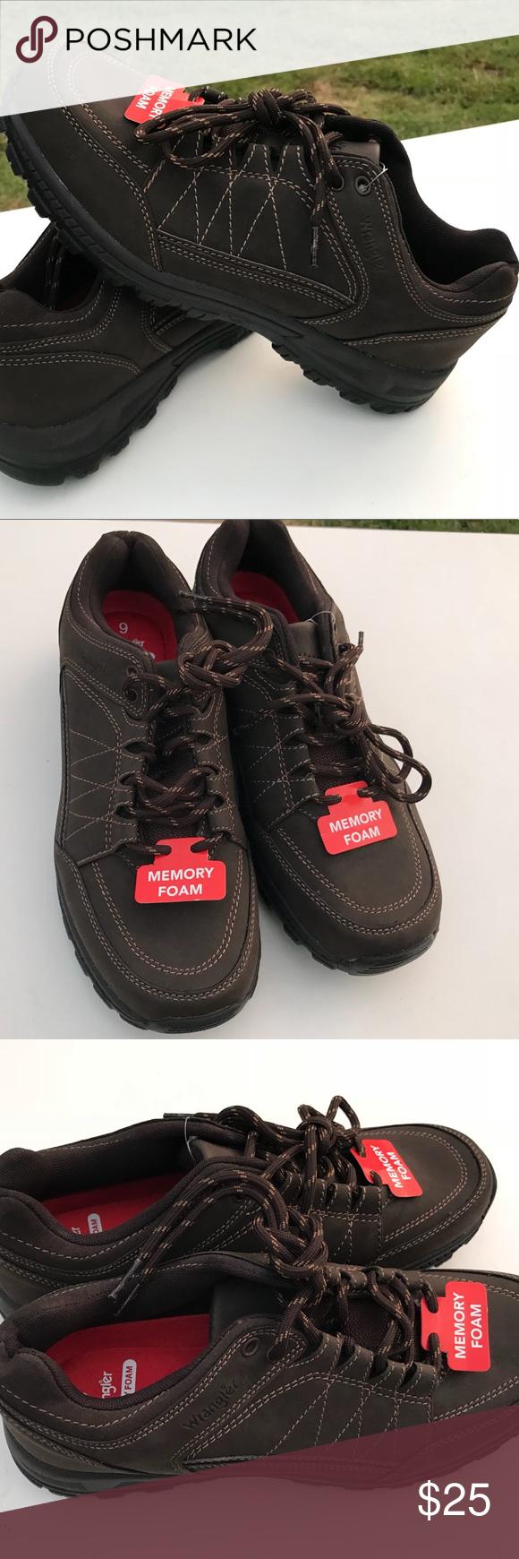 106ffd92 Wrangler Men Casual Oxford Brown Memory Foam Shoe Wrangler Men's Ruggen  Oxford Brown Memory Foam Shoe Size 9 Nw! -Memory Foam -Dual Density Sole ...