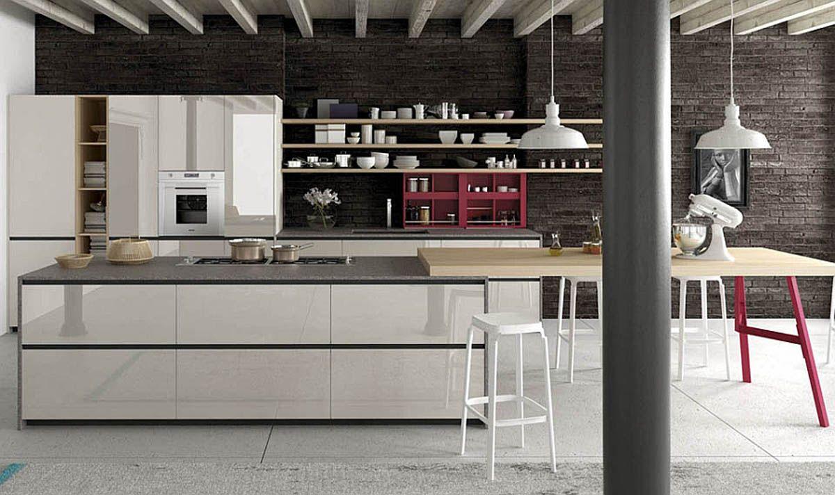 Kitchen Creative Smart Efficinet Modern Italian Kitchen Timeless Design Ideas Red Enlivens Hin Italian Style Kitchens Timeless Kitchen Italian Kitchen Design
