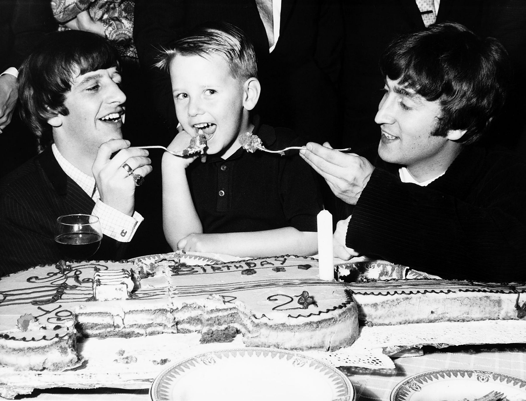 John Lennon And Ringo Starr Attend The Birthday Party Of