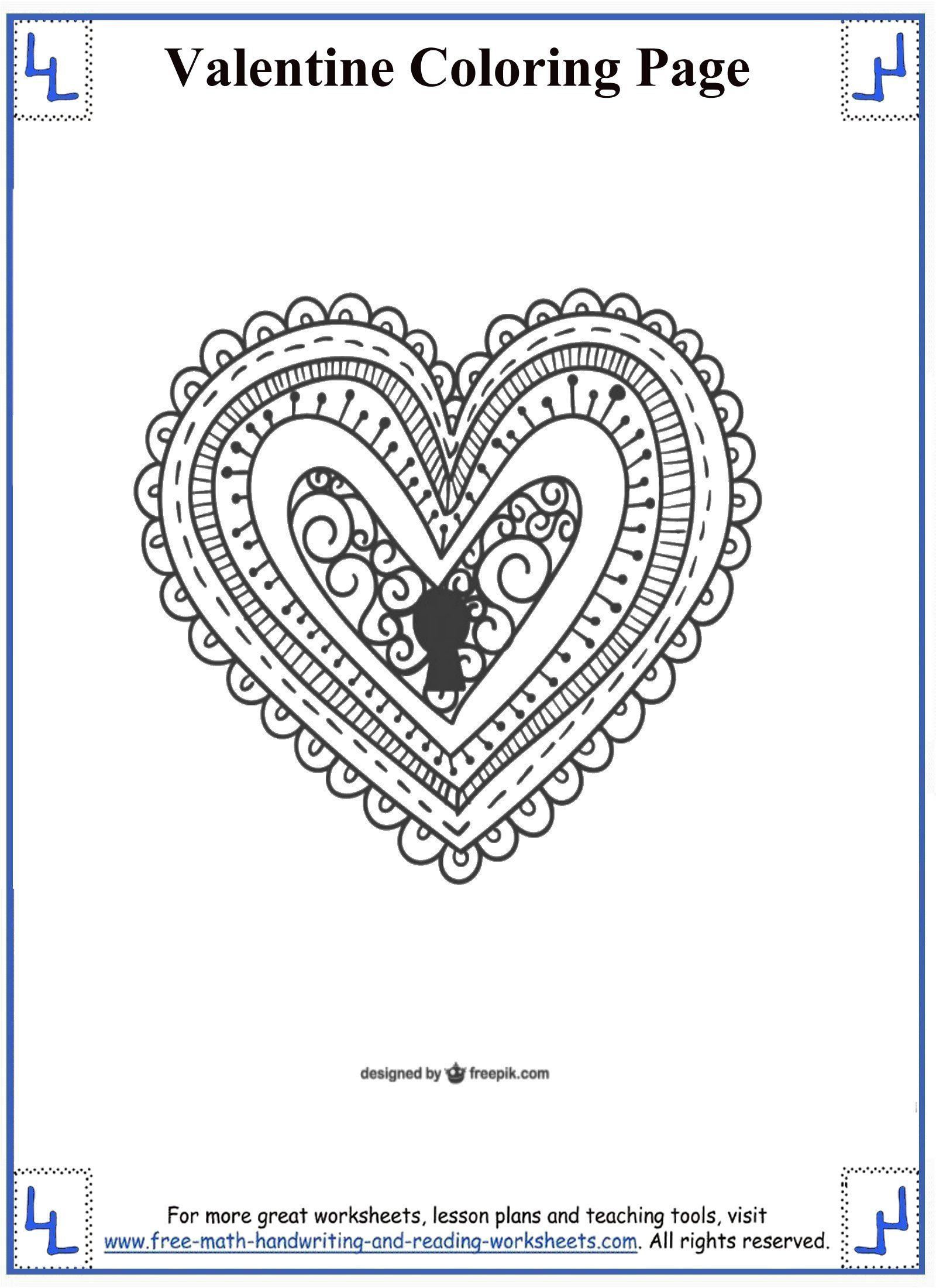 Valentines Day Coloring Pages Com Imagens