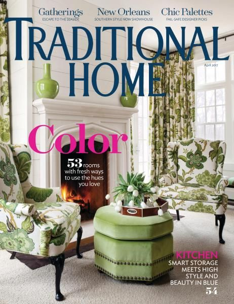 Chair fabric   Traditional Home - April 2017