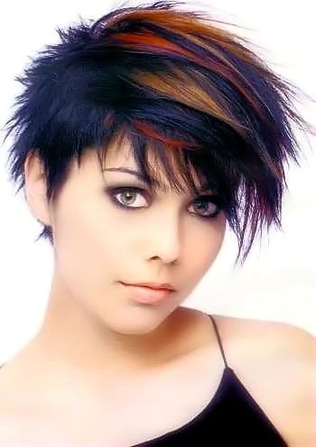 Unusual Short Hairstyles Picture 10 Edgy Short Hair Short Hair Color Thick Hair Styles