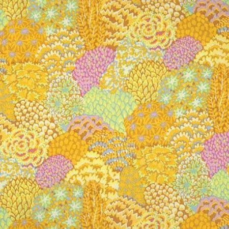 Kaffe Fassett Trees Oriental Yellow Fabric 1 By Lucyintheskyquilts