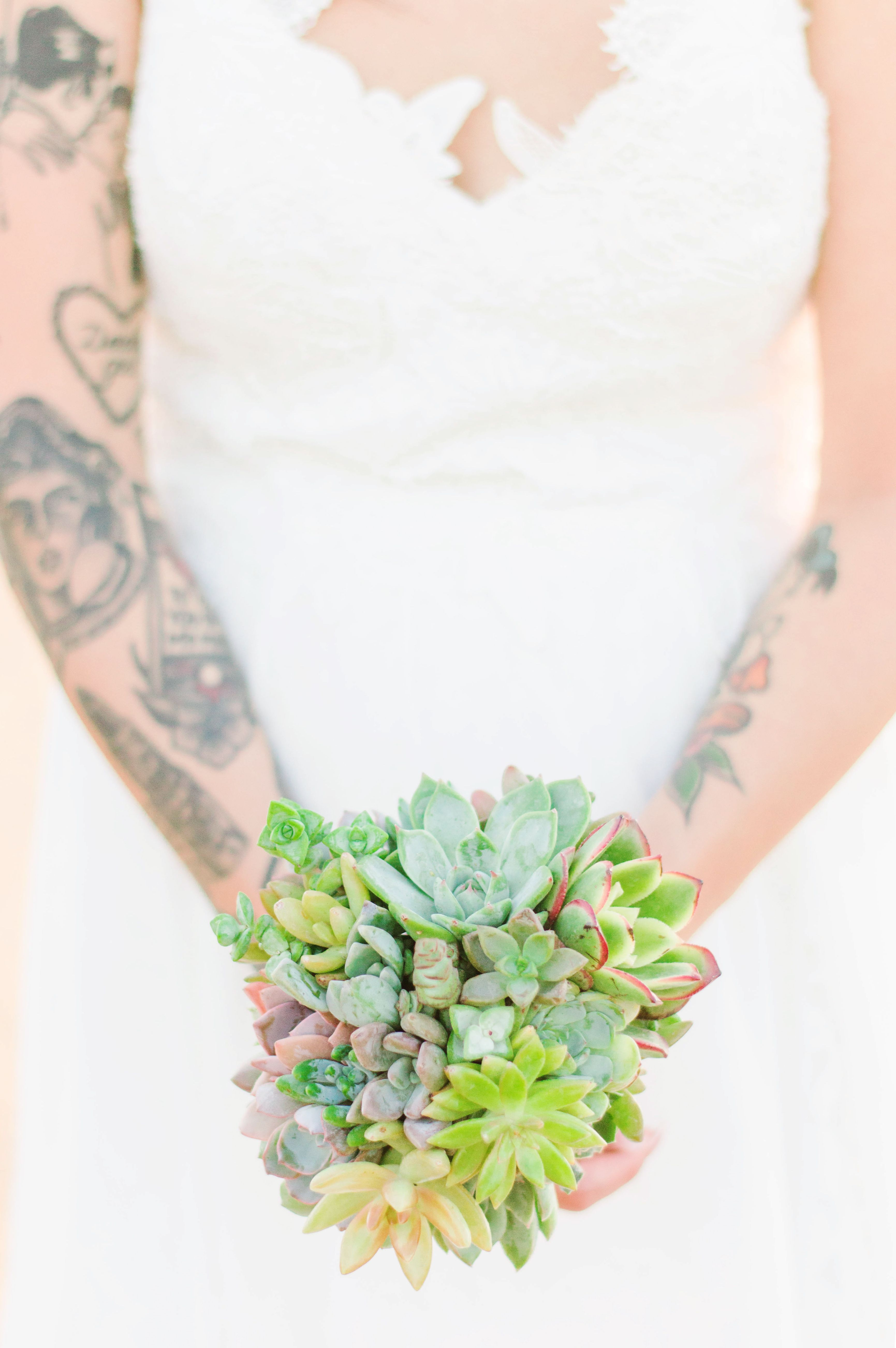 succulent bouquet for boho wedding California wedding