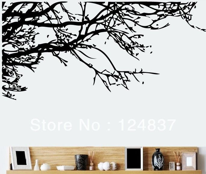 Black Branches Wall Sticker Removable Vinyl Decal Art Tree Stickers Transparent Wallpaper Ho Vinyl Wall Art Trees Childrens Wall Decor Wall Stickers Home Decor