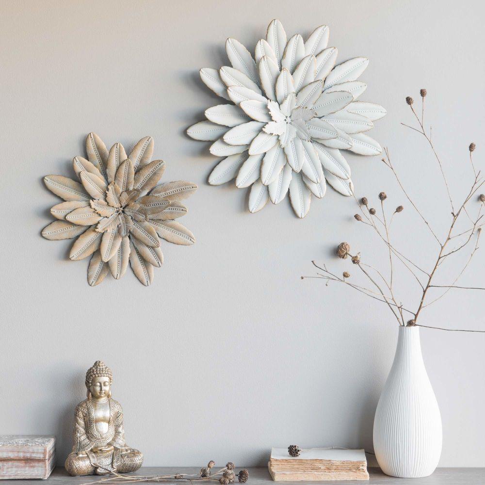 Deco Murale Fleur En Metal Blanc D41 Shopping Pinterest
