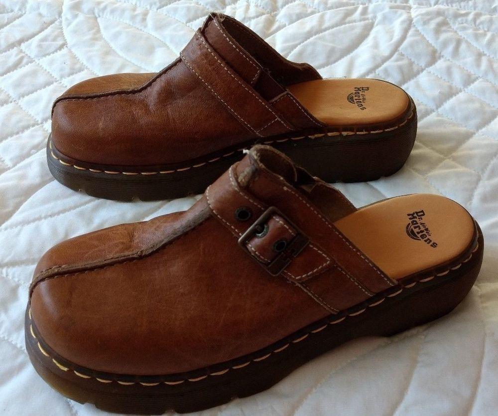 Dr Doc Martens Brown Leather Slip On