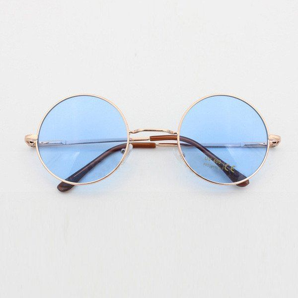 John Lennon Round Sunglasses In 3 Pastel Colors Pink Blue And Purple Hippie… 0df5a552171
